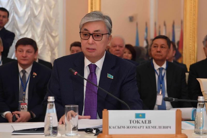 Senate Speaker Toqayev participated in CIS IPA meeting in Saint Petersburg