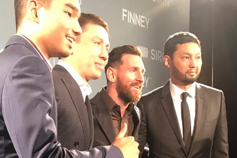 Lionel Messi, Gennady Golovkin attend an event in Barcelona