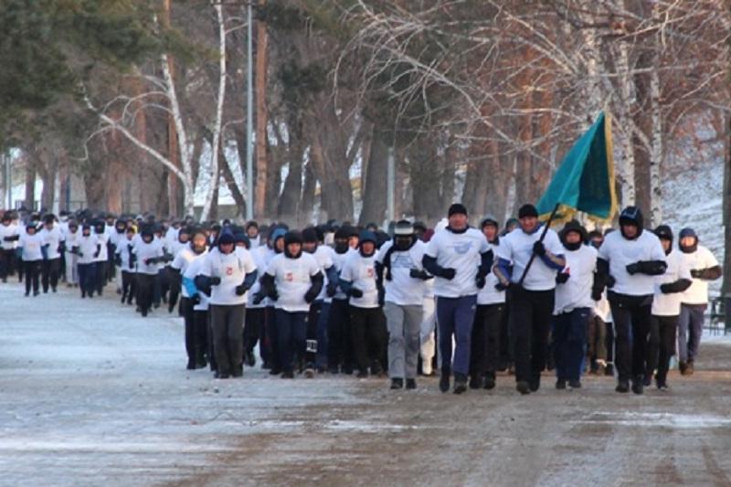Президентскую милю пробежали павлодарские полицейские