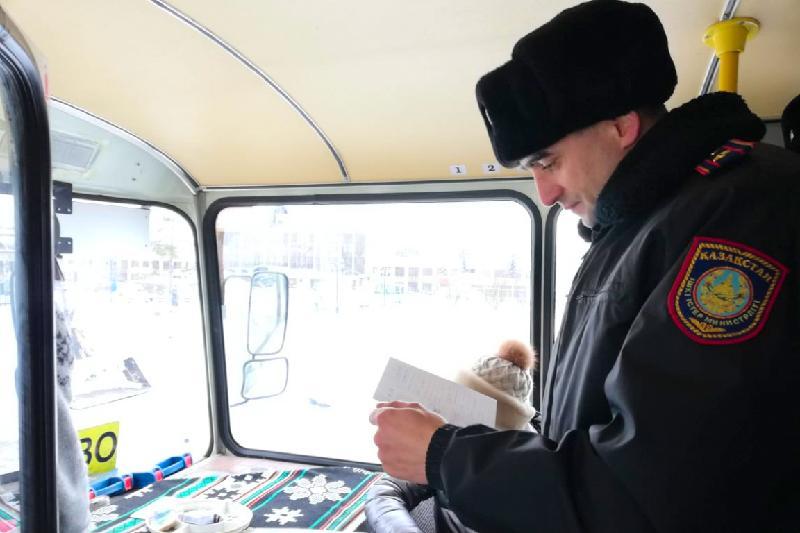 Более 2 тысяч нарушений допустили водители автобусов и такси в СКО
