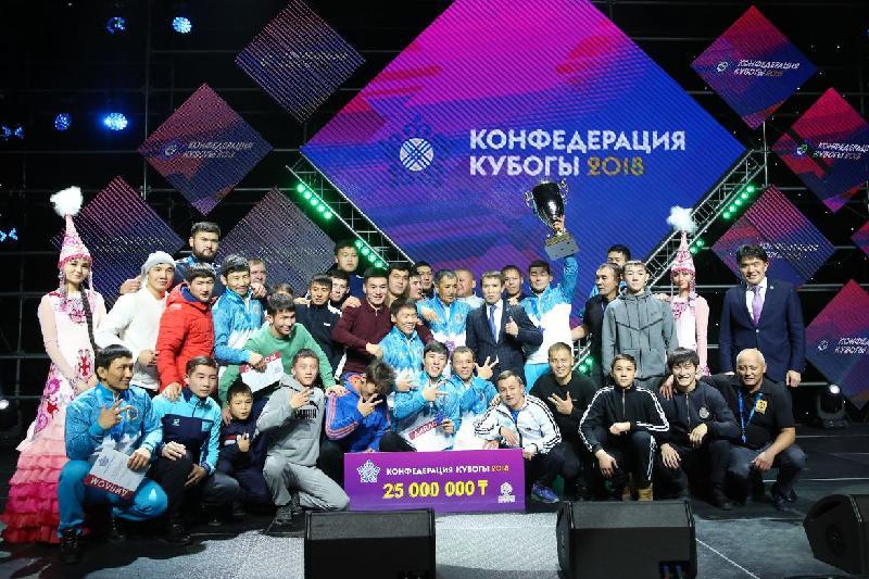 Алматы облысы грек-рим күресінен конфедерация кубогында топ жарды