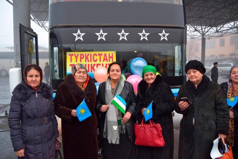 Автобусное сообщение запустили  между Туркестаном и Ташкентом
