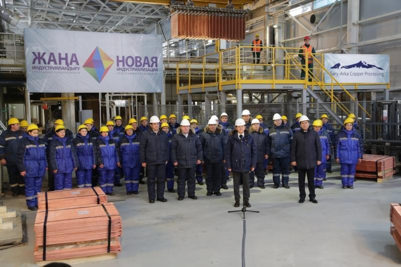 Карагандинская область презентовала Президенту новый завод по выпуску катодной меди