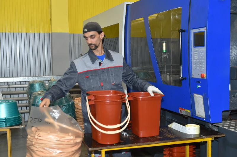 Завод по переработке пластика открыли в Северном Казахстане