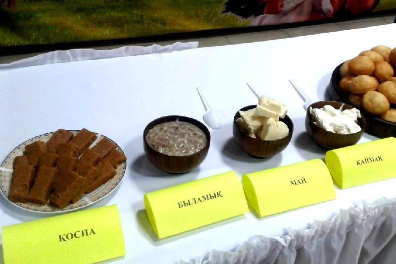 Доғалатпа, бөкпен, қоспа: Ақсуда ұмыт қалған ұлттық тағамдар көрмесі өтті