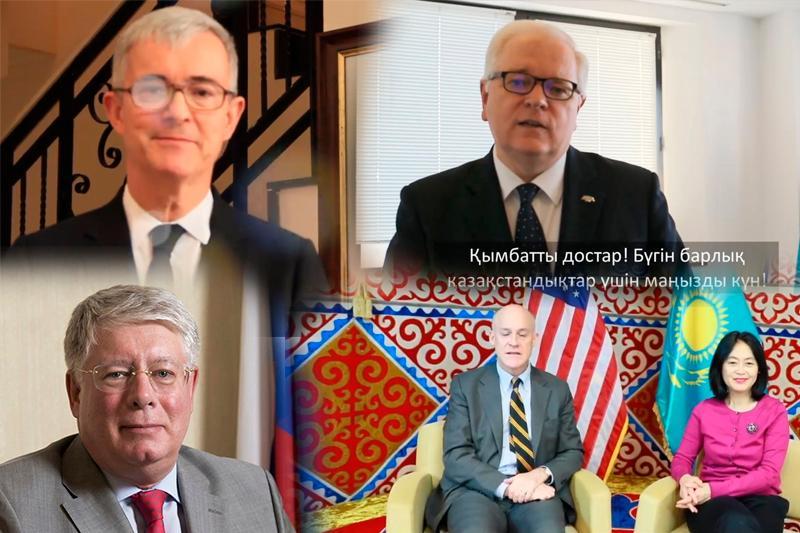 Шетелдік дипмиссиялар қазақстандықтарды Тәуелсіздік күнімен құттықтады
