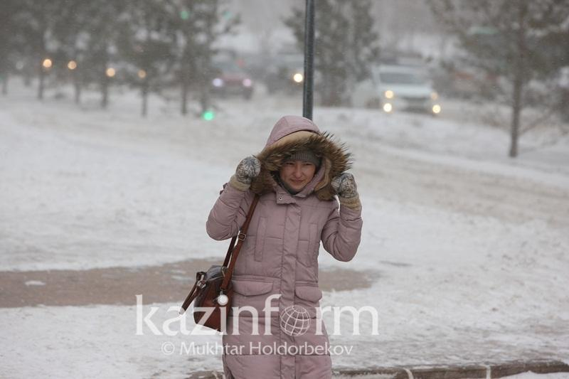 Storm alert in effect in two regions of Kazakhstan