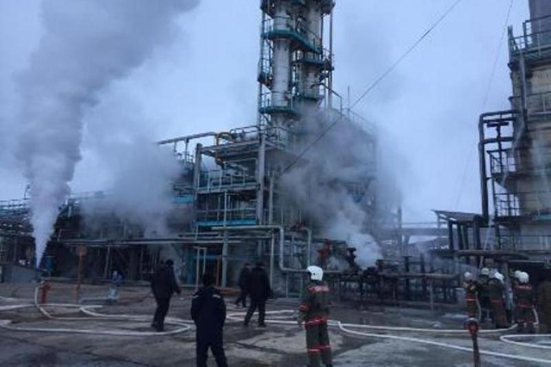 Газ өңдеу зауытында жарылыс болды- Жамбыл облысы