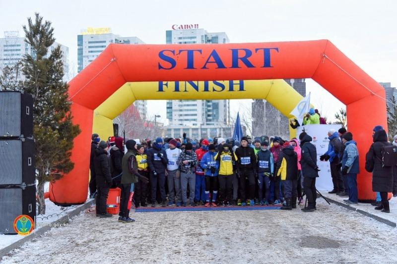 Астананың 1600 тұрғыны қысқы марафонда жүгірді