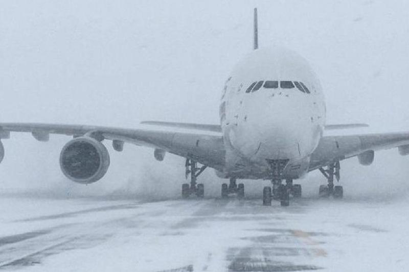 Ice storm delays flights in Aktau