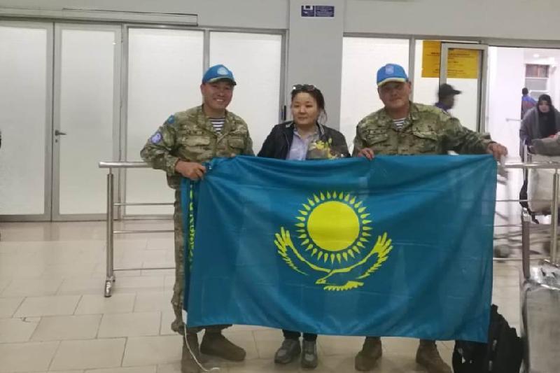 首位哈萨克斯坦维和女兵抵达西撒哈拉
