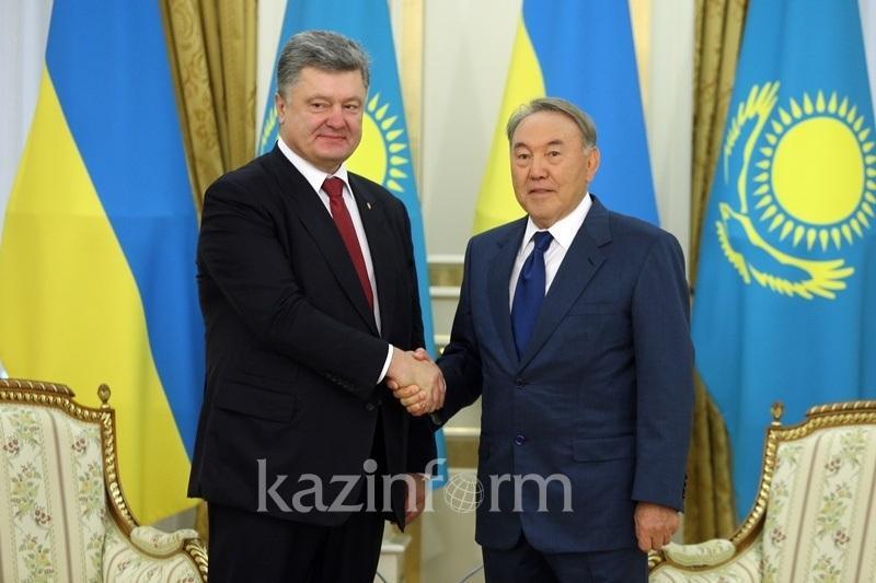Nazarbayev, Poroshenko had telephone talk