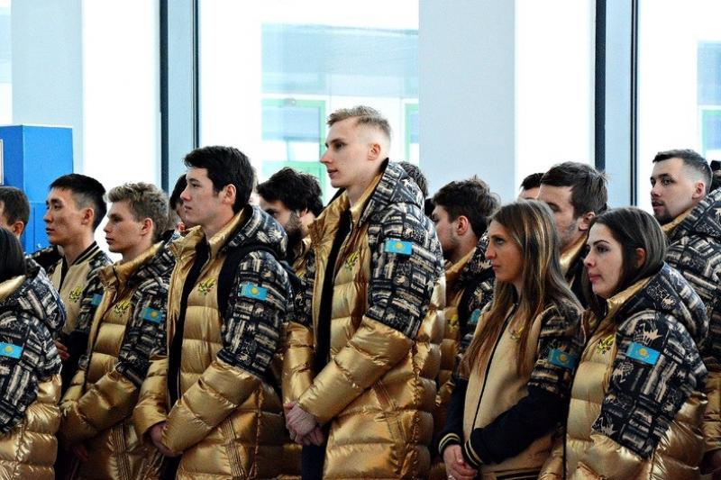 Сборная Казахстана отправилась на XXIX зимнюю Универсиаду в Красноярск
