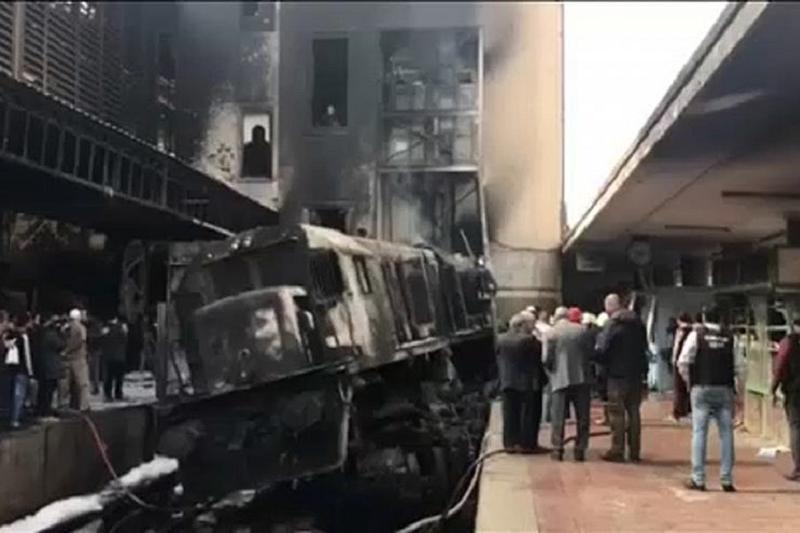 开罗火车站大火致25死50伤