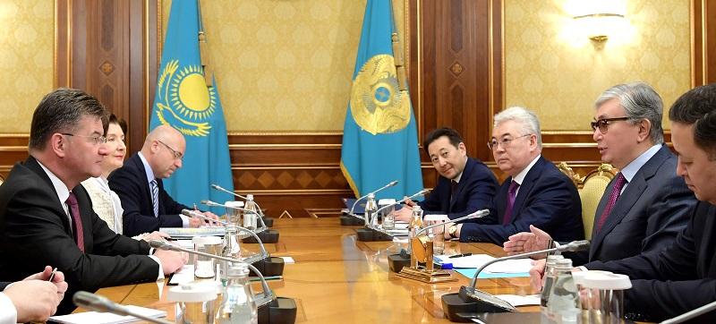 Глава государства встретился с председателем ОБСЕ