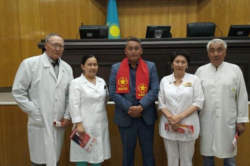 Представители КНПК встретились с работниками областного медцентра в Кызылорде