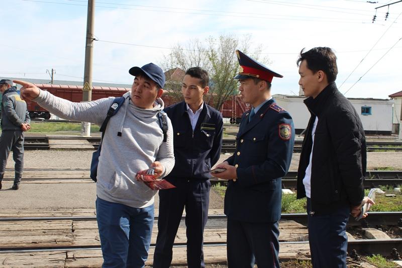 Пешеходы-нарушители задержаны в ходе рейда на железной дороге в Нур-Султане