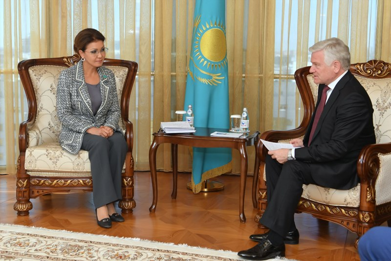 Дарига Назарбаева приняла посла Беларуси