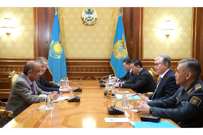 托卡耶夫总统会见联合国副秘书长