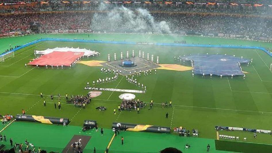 Финал Лиги Европы проходит на олимпийском стадионе Баку