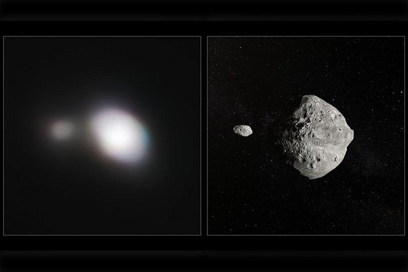 Пролетевший мимо Земли двойной астероид засняли астрономы