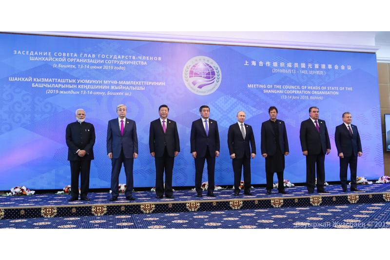 19-ое заседание Совета глав государств-членов ШОС началось в Бишкеке