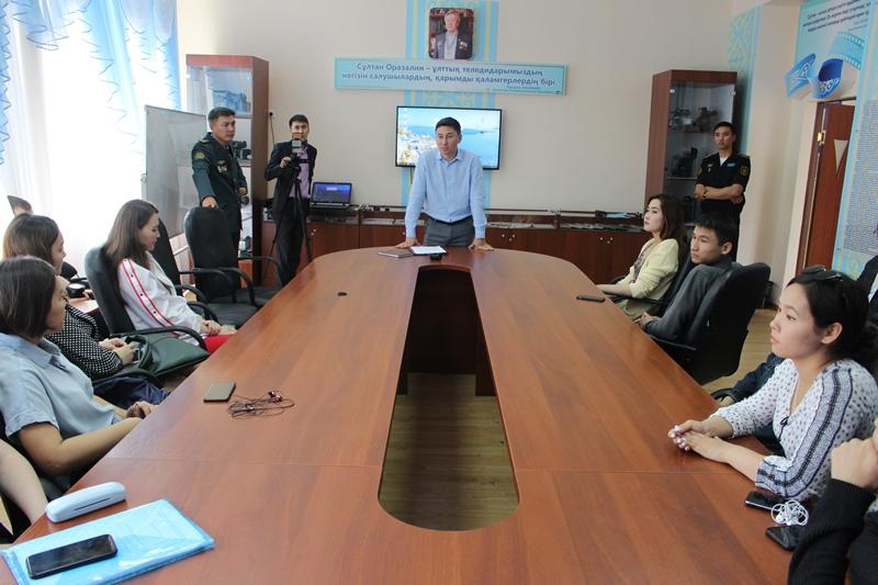 Минобороны РК проведена встреча со студентами Евразийского национального университета