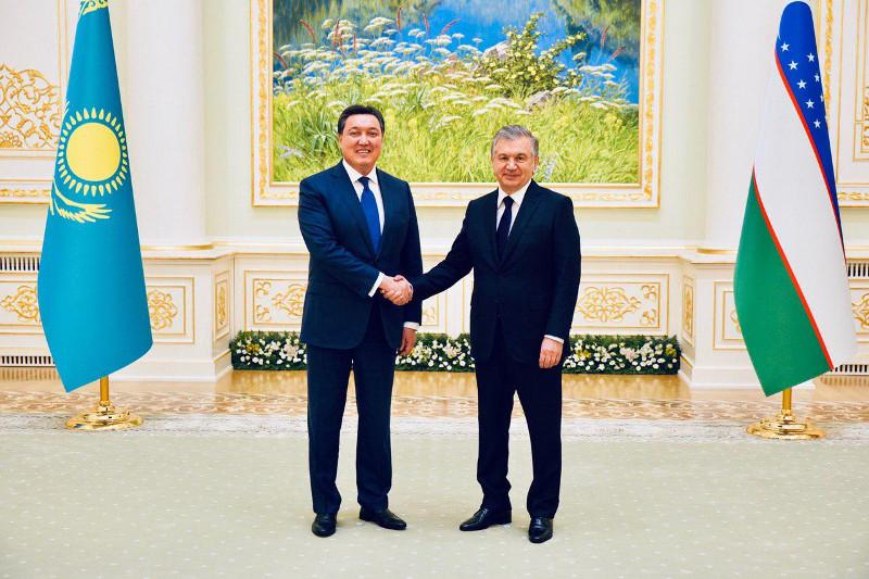 政府总理马明会见乌兹别克斯坦总统米尔季约耶夫