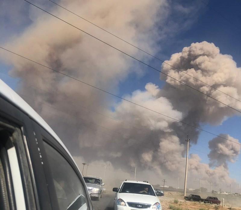 Взрыв произошел в воинской части в Арыси