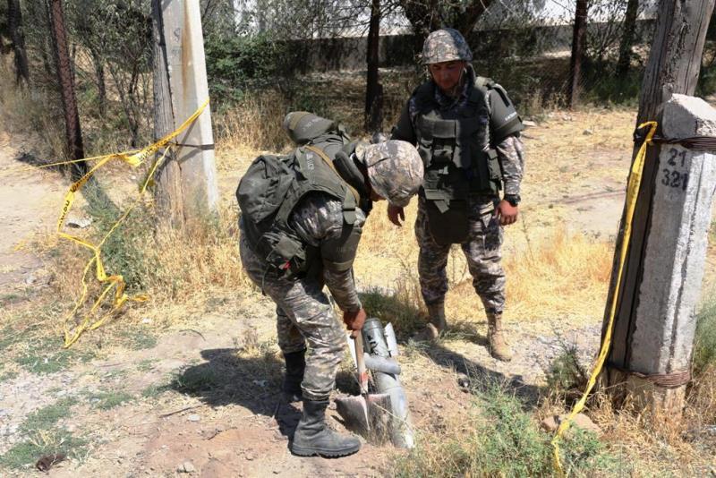 В Арыси начались работы по утилизации фрагментов боеприпасов