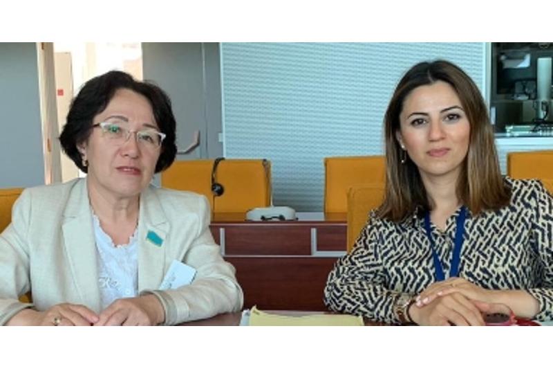 Senator Sáýle Aıtpaeva EK Parlamenttik Assambleıasynyń sessııasyna qatysty