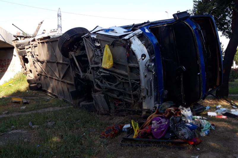 Аким Алматы поручил полицейским разобраться с причинами ДТП с автобусом