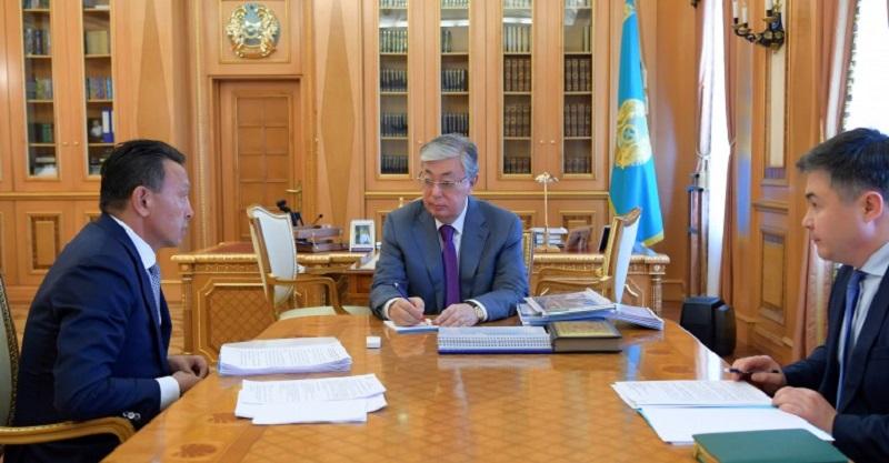 Президент РК встретился с главой КТЖ