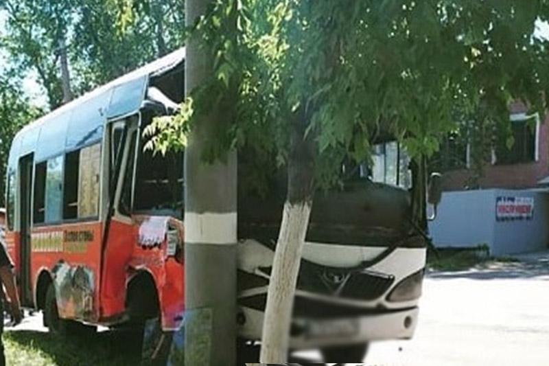 Водитель маршрутки врезался в столб в Петропавловске