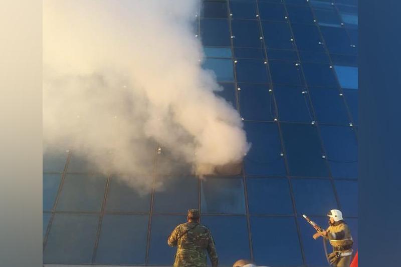 В здании университета искусств в Нур-Султане произошел пожар