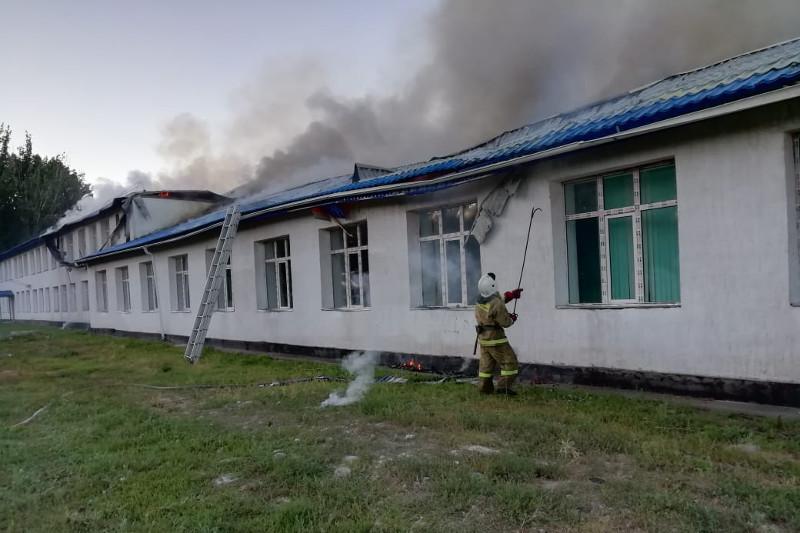 Алматы облысында мектептің шатыры жанып кетті