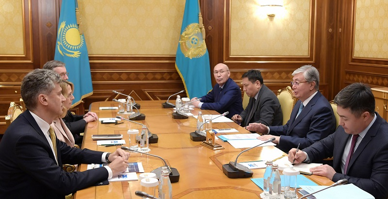 Kazakh President meets with multinational investment bank representative