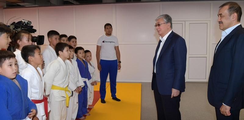 Президент принял участие в открытии Дворца единоборств в столице