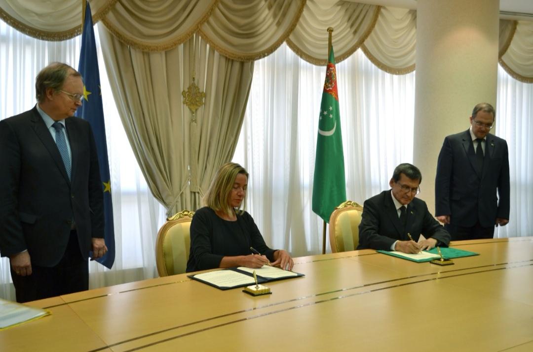 Туркменистан и Евросоюз подписали соглашение о сотрудничестве