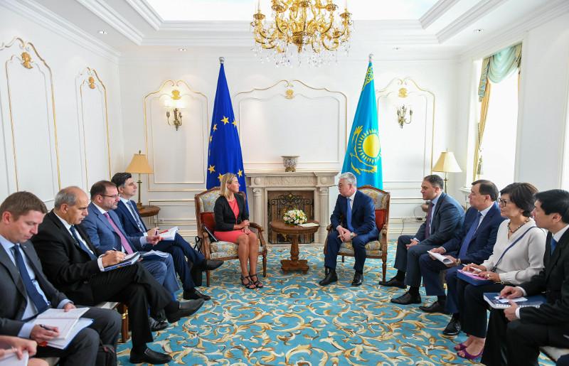 Обсуждены перспективы реализации Соглашения о партнерстве и сотрудничестве РК-ЕС