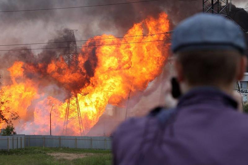 俄热电站火灾造成1死13伤 莫斯科空气未受到污染