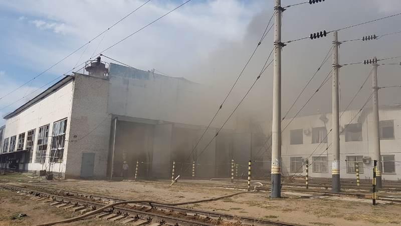 Возгорание в депо в Туркестанской области ликвидировали