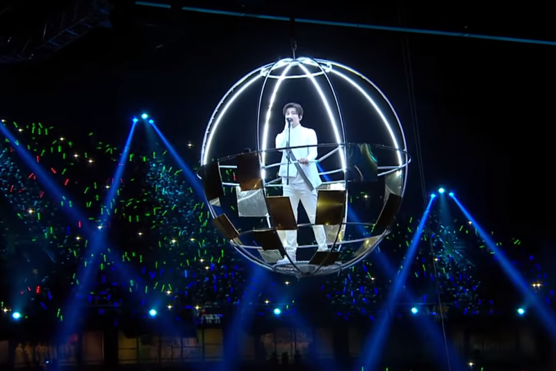 Dimash Kudaibergen's Arnau show hits the web