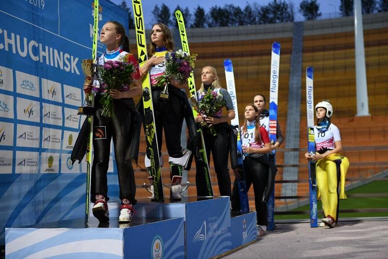 Казахстанка победила на FIS Кубке по прыжкам на лыжах с трамплина в Щучинске