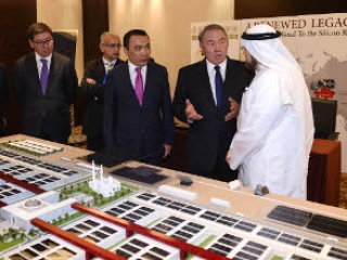 Nazarbayev holds meetings with businessmen of Qatar