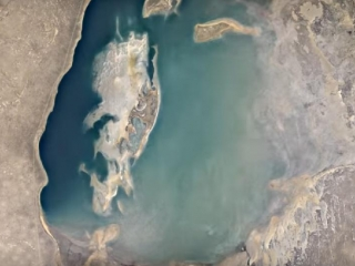How Aral Sea changed in 32 years