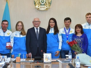 Universiade 2017 silver medalist honored in N Kazakhstan