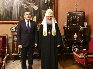 Religion Minister holds meeting with Patriarch Kirill