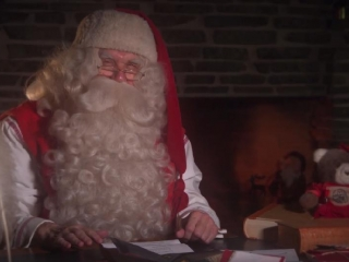 Santa Claus from Lapland wishes Happy New Year to Kazakh children