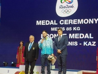 Kazakh weightlifter Ulanov awarded 2016 Rio Olympics bronze medal